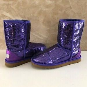 Classic Purple Short Sequin Uggs